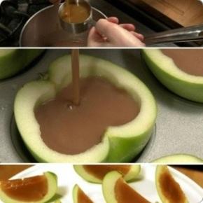 Manzanas con toffee.