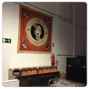 La fábrica de cerveza.