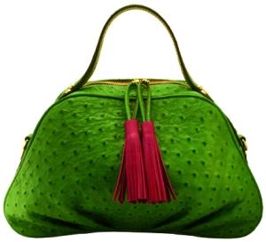 BOGO40 verde prado borlon fucsia