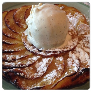 FILANDON oblea manzana y helado vainilla
