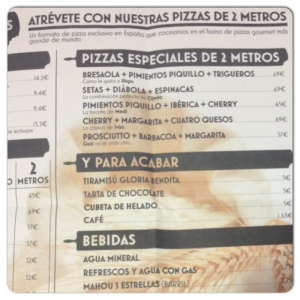 KM de pizza Carta