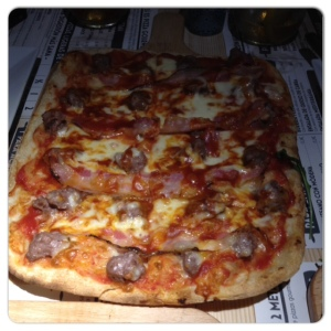 KM de pizza pizza de bbq