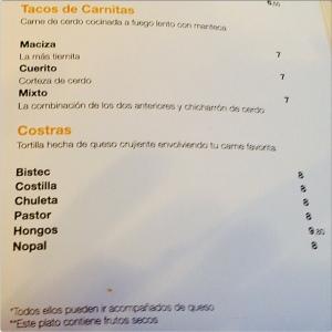 Taqueria Lupita carta 2