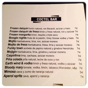 DIURNO Carta cócteles