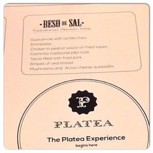 PLATEA Beso de sal