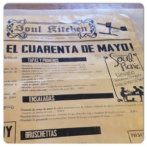 SOUL KITCHEN carta iv