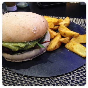 Cilantro hamburguesa guacomole