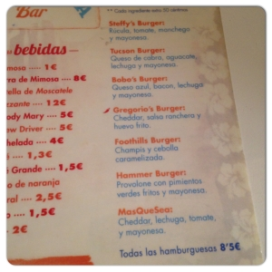 CARMENCITA BAR Carta II