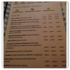 FLAVIA carta salsas pasta