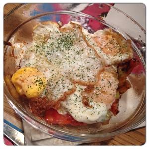 LA IMPERIAL DE RAIMUNDO ensalada huevo frito y tomate