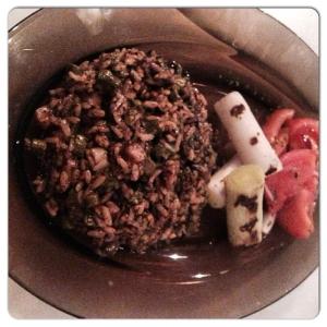 LOVINS Platillo combinado arroz trufado y verduras